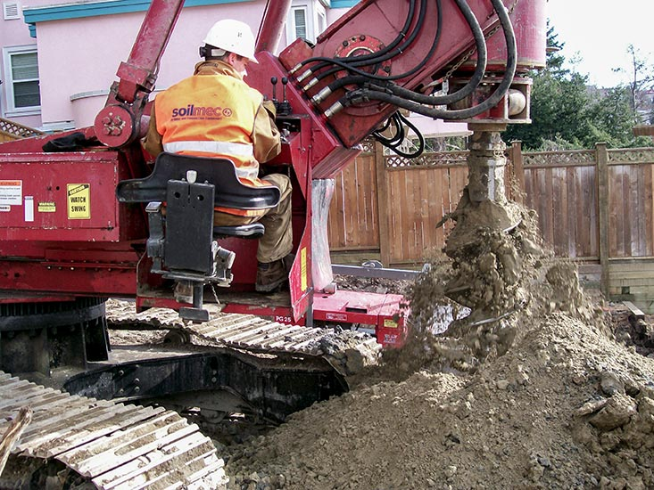 Drilling fence post holes