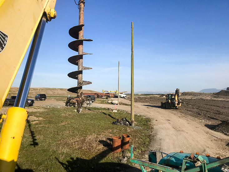 Two of our crews working at a major project at the Vancouver Landfill.